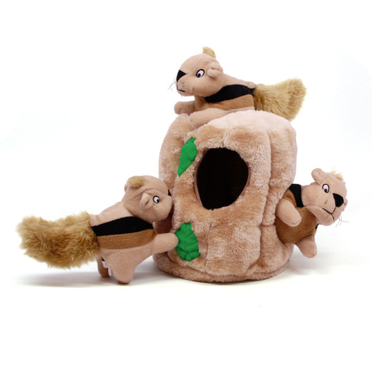 Hide A Squirrel Plush Dog Toy Puzzle, Brown, Large