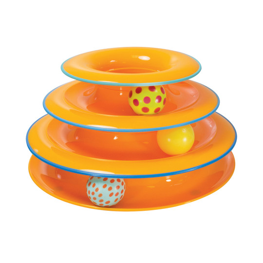 Tower of Tracks Cat Toy, Multi
