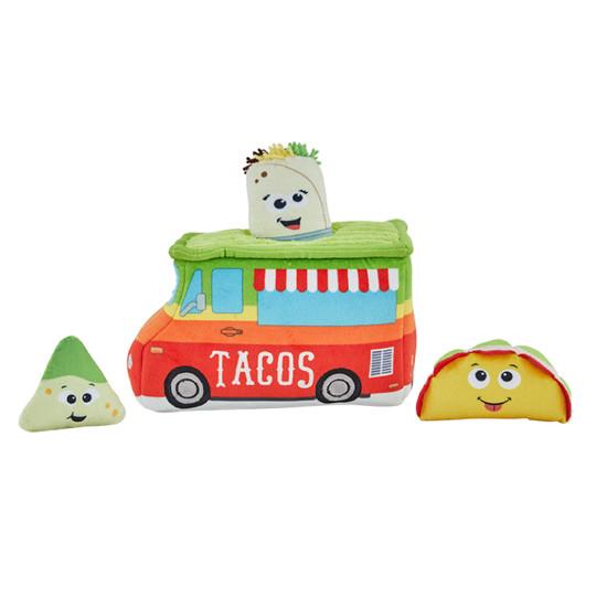 Hide A Taco Plush Dog Toy Puzzle, Multi