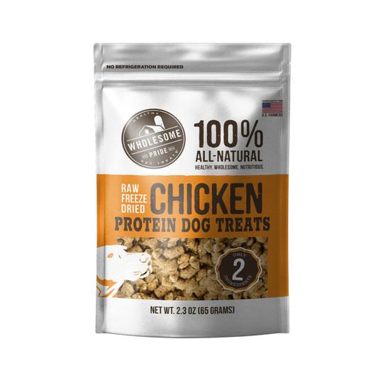 Raw Freeze Dried Chicken Dog Treats, Orange, 2.3 Oz