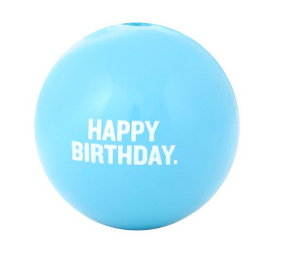 Orbee-Tuff Happy Birthday Ball Treat-Dispensing Dog Toy, Blue