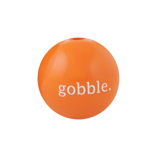 Orbee-Tuff Thanksgiving Gobble Ball Treat-Dispensing Dog Toy, Multi, Small