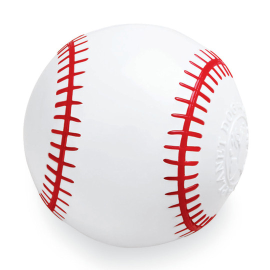 Orbee-Tuff Baseball Treat-Dispensing Dog Chew Toy, White
