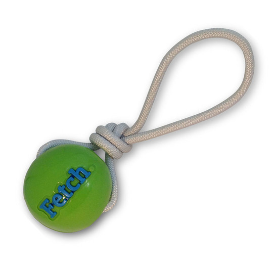 Orbee-Tuff Fetch Ball With Rope Dog Toy, Green