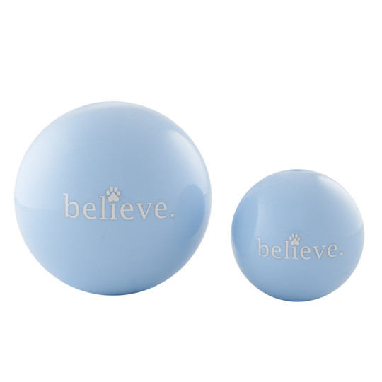Orbee-Tuff Holiday Believe Ball Treat-Dispensing Dog Toy, Blue, Large