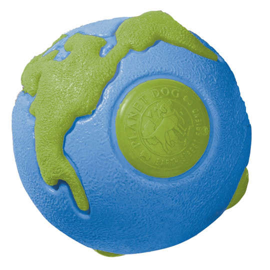 Orbee-Tuff Planet Ball Treat-Dispensing Dog Toy, Large, Blue/Green, Large