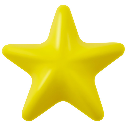 Orbee-Tuff Lil' Dipper Star Dog Toy, Yellow