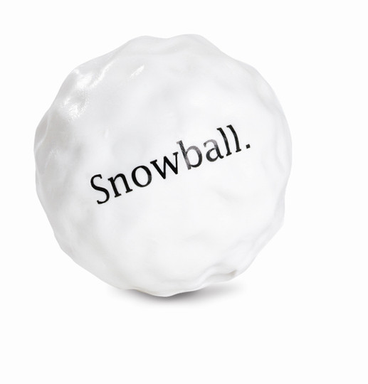 Orbee-Tuff Holiday Snowball Treat-Dispensing Dog Toy, White
