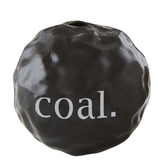 Orbee-Tuff Holiday Lump of Coal Treat-Dispensing Dog Toy, Grey