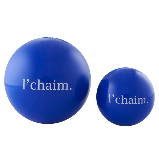 Orbee-Tuff Holiday L'Chaim Ball Treat-Dispensing Dog Toy, Blue, Large