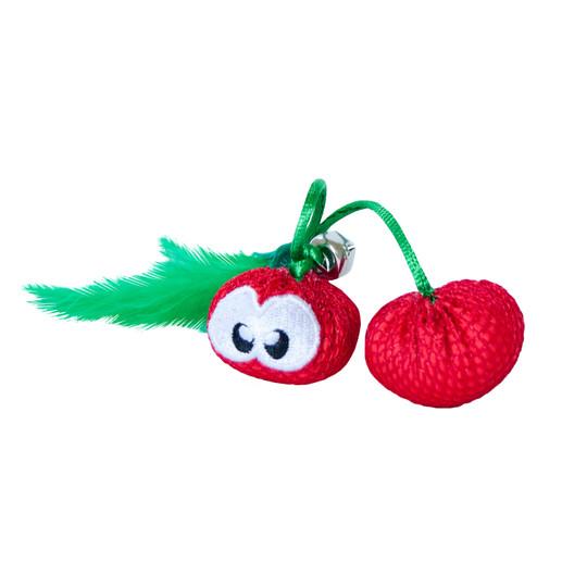 Dental Cherries Catnip Cat Chew Toy, Red