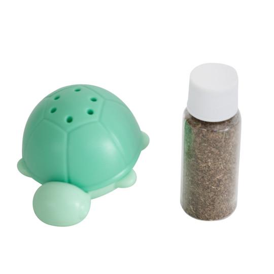 Wobble Turtle Catnip Diffuser Cat Toy, Green