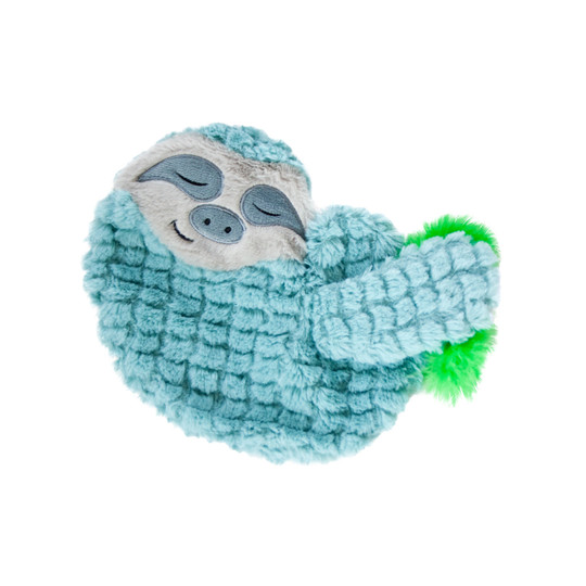 Purr Pillow Snoozin' Sloth Plush Cat Toy, Green