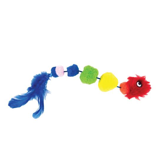 Rainbow Caterpillar Cat Toy, Multi