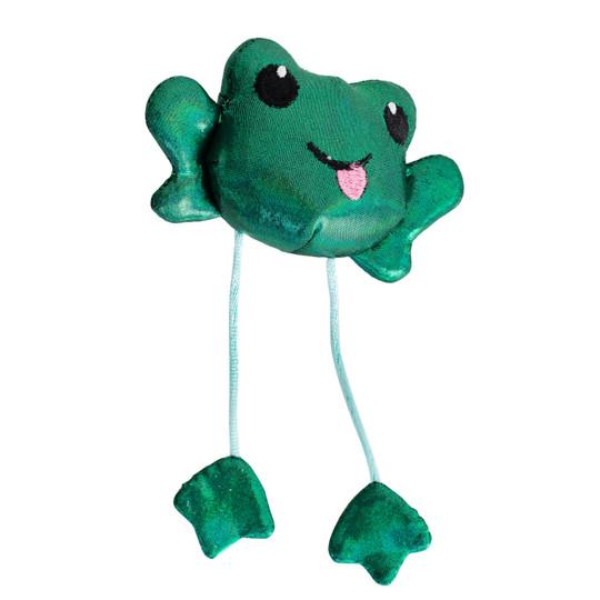 Toss 'N Dangle Frog Catnip Cat Toy, Green