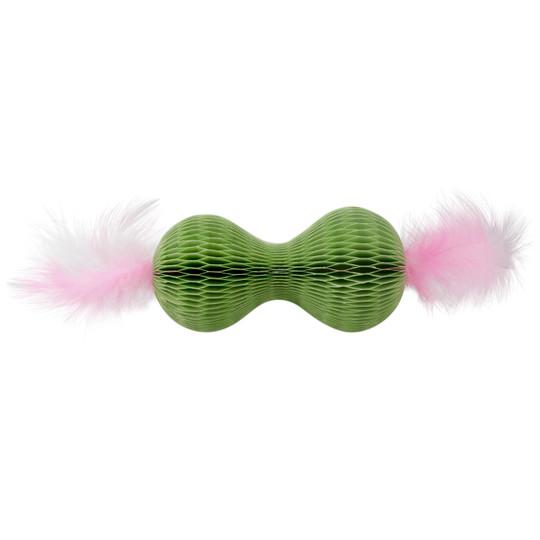 Honeycomb Hide-A-Ball Cat Toy, Green