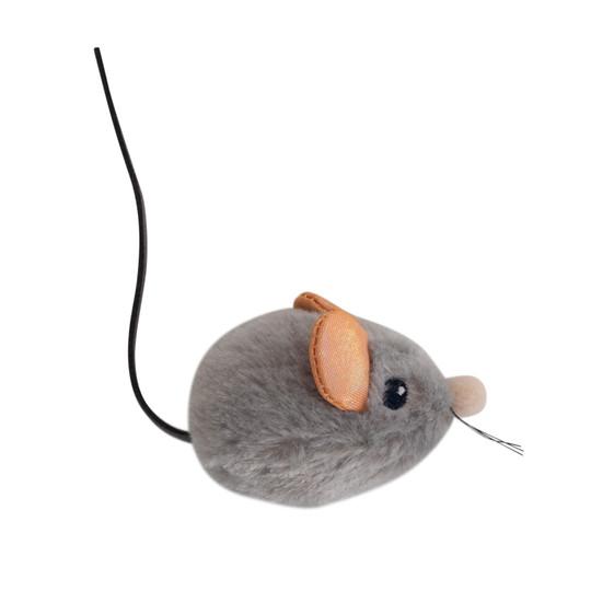 Squeak Squeak Mouse Plush Cat Toy, Grey