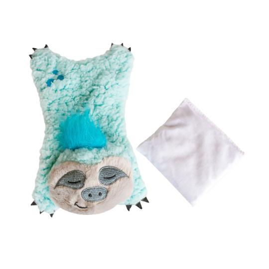 Cuddle Pal Plush Sloth Dog/Cat Toy, Blue