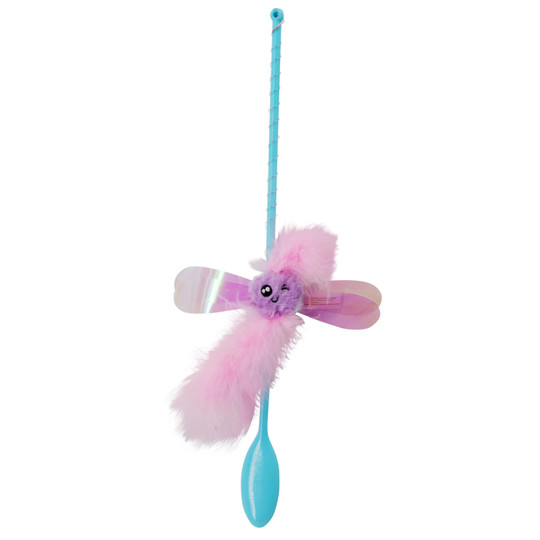 Fairy Flutter Teaser Wand Cat Toy, Blue