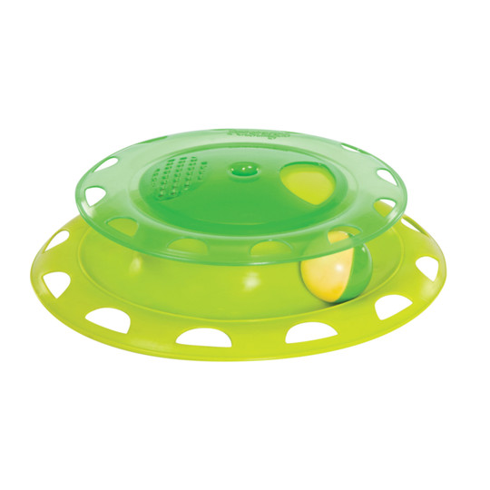 Catnip Chase Track Cat Toy, Green