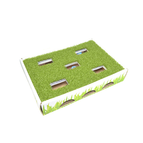 Grass Patch Hunting Box Cat Toy, Green