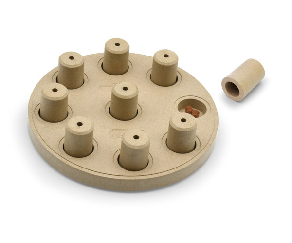 Dog Smart Composite Interactive Treat Puzzle Dog Toy, Tan