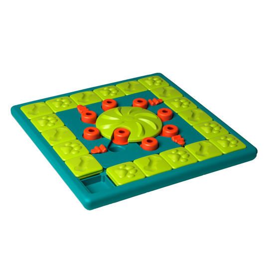 MultiPuzzle Interactive Dog Treat Puzzle Toy, Blue