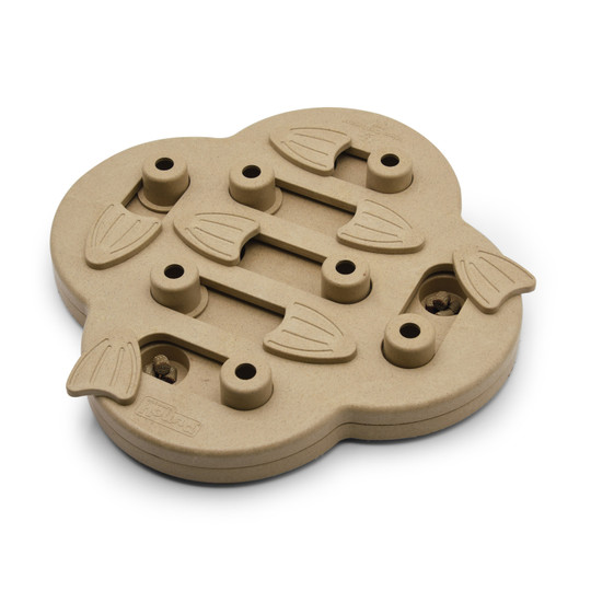 Dog Hide N' Slide Interactive Treat Puzzle Dog Toy, Tan