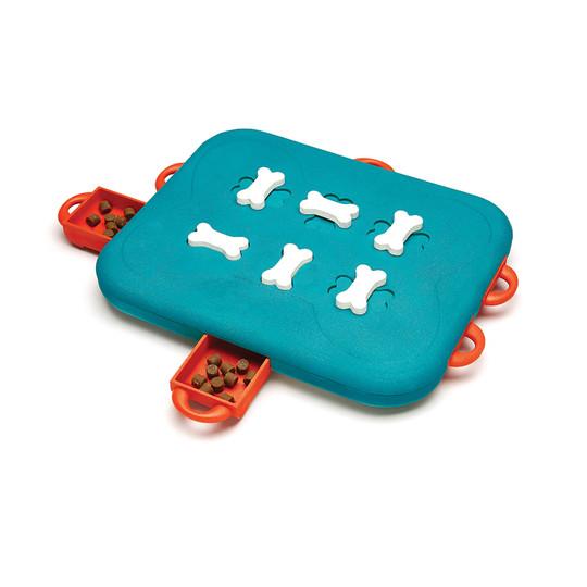 Dog Casino Interactive Treat Puzzle Dog Toy, Turquoise