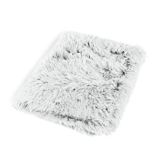 Shag Nap Mat Zipper Shell Cover, Frost, 27X36