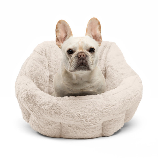 Deep Dish Lux Cuddler Cat and Dog Bed, Oyster, Standard