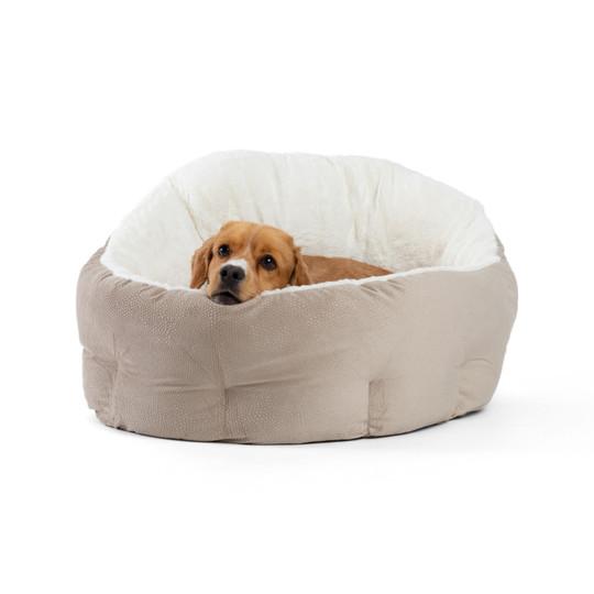 Deep Dish Ilan Cuddler Dog Bed, Wheat, Jumbo