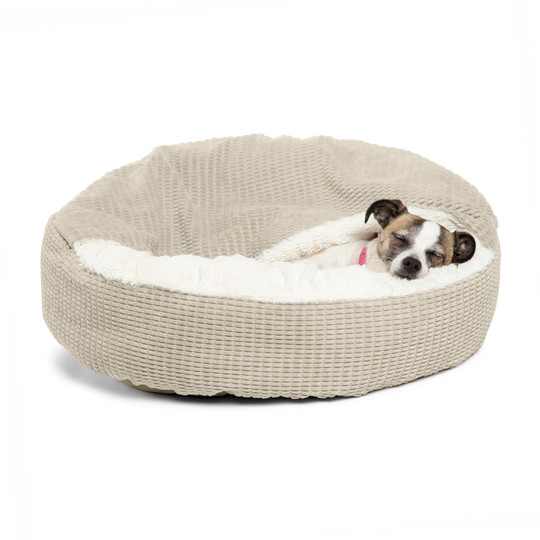 Cozy Cuddler Mason Cat and Dog Bed, Oyster, 23X23