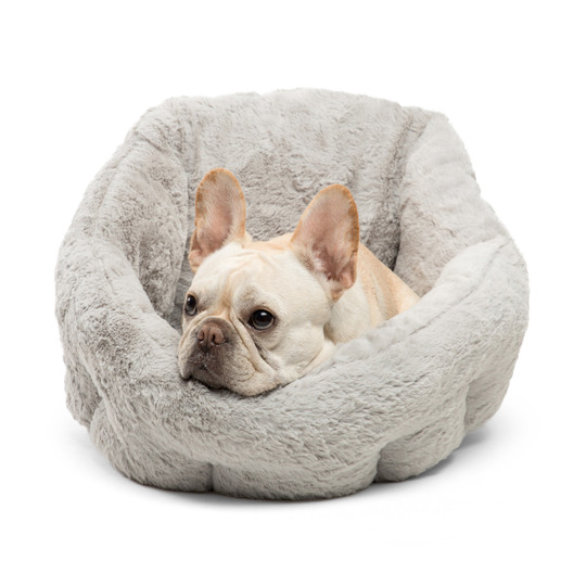 Deep Dish Lux Cuddler Cat and Dog Bed, Grey, Standard