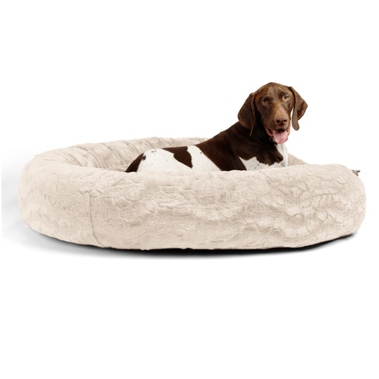 Donut Lux Dog Bed, Oyster, 45X45
