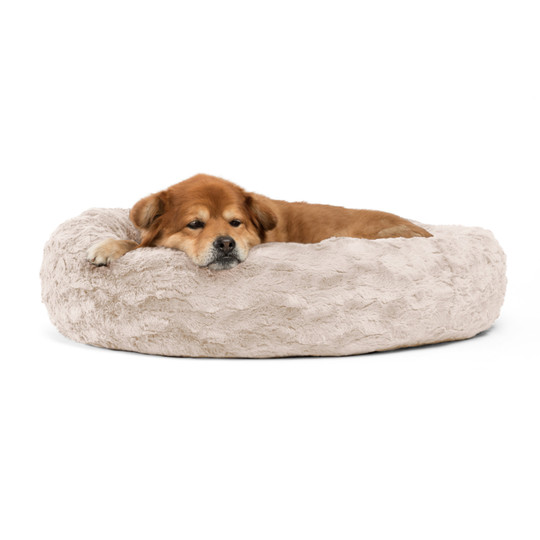 Donut Lux Dog Bed, Oyster, 30X30