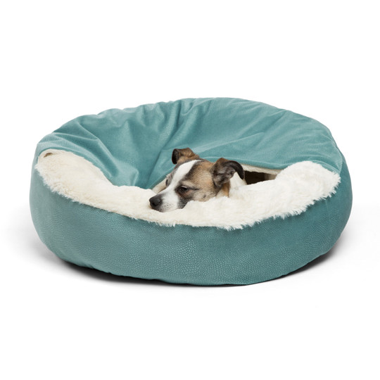 Cozy Cuddler Ilan Cat and Dog Bed, Tidepool, 24X24