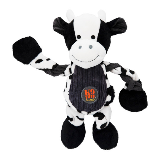 Pulleez Cow Dog Toy, White