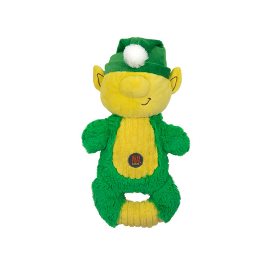 Squeeze 'Ems Holiday Elf Dog Toy, Green, Medium