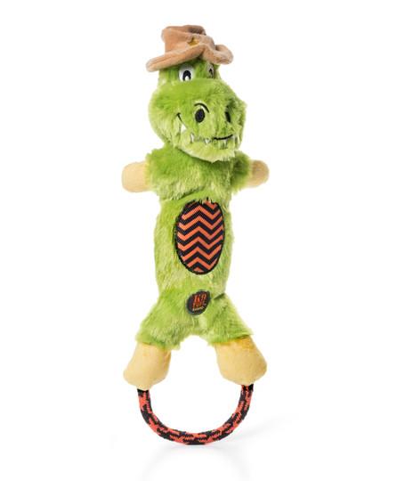 Lil' Dudes Halloween Gator Dog Toy, Green, Medium