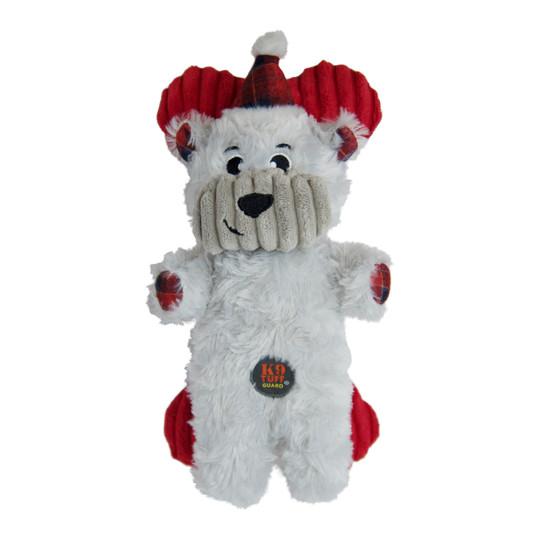 Snuggle Babies Holiday Polar Bear and Bone Dog Toy - 2 Pack, White