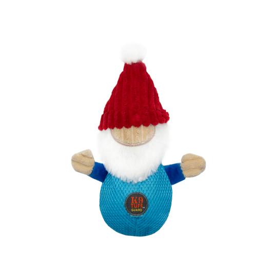 Snowballs Holiday Santa Gnome Dog Toy, Blue, Medium
