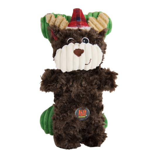 Snuggle Babies Holiday Moose and Bone Dog Toy - 2 Pack, Brown