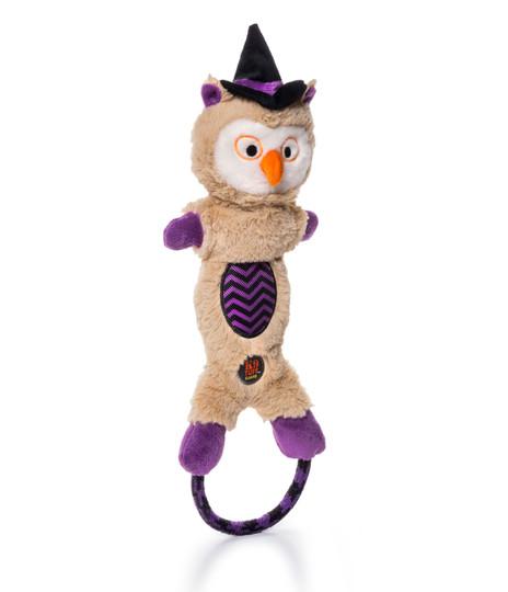 Lil' Dudes Halloween Owl Dog Toy, Tan, Medium