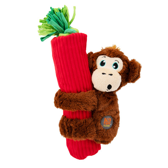 Cuddly Climbers Monkey Dog Toy, Brown, Small