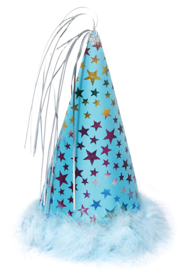 Party Hat Dog and Cat Accessory, Blue, Small