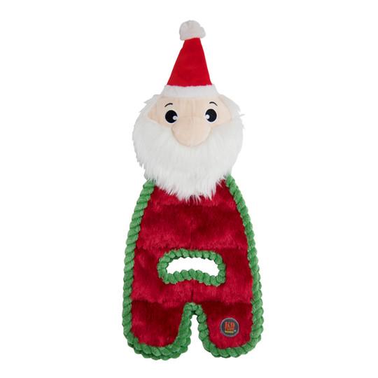 Cuddle Tugs Santa Dog Toy, Red, Medium