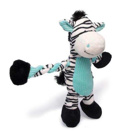 Pulleez Zebra Dog Toy, Blue