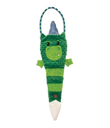 Tuggerz Reversible Unicorn/Dragon 2-in-1 Tug Dog Toy, Multi, Large