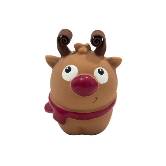 Squish 'Ems Reindeer Holiday Dog Toy, Brown, Small
